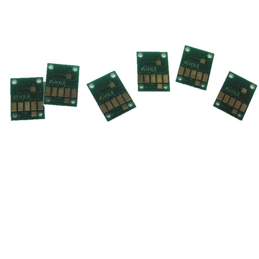 CHIP de cartucho de tinta PGI750 CLI751 chip de arco de 6 colores reinicio automático para impresora canon PIXMA MG6370 MG7170 IP8770