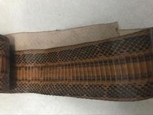 WS041 Genuine Brown snake skin