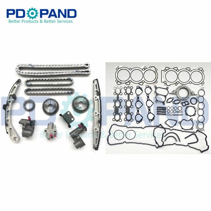 VQ35DE junta de cadena de distribución Kit para Nissan Altima Maxima 350Z MURANO Z50 FAIRLADY/lloguer de Z Infiniti G35 FX35 3.5L