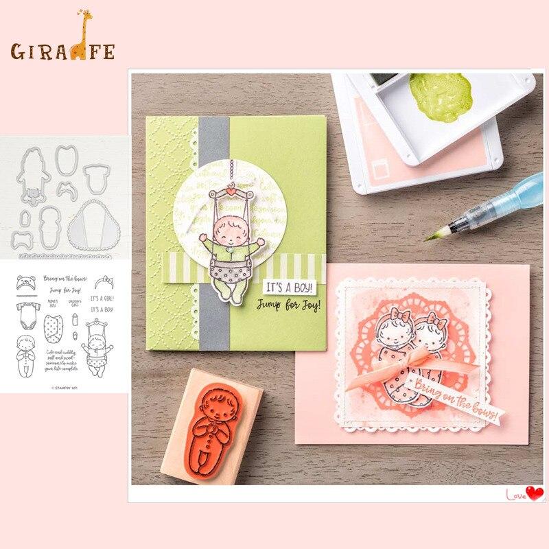 Doux bébé métal découpe matrices et timbres pour matrices scrapbooking Album Photo gaufrage artisanat décoratif clair timbres et matrices ensembles