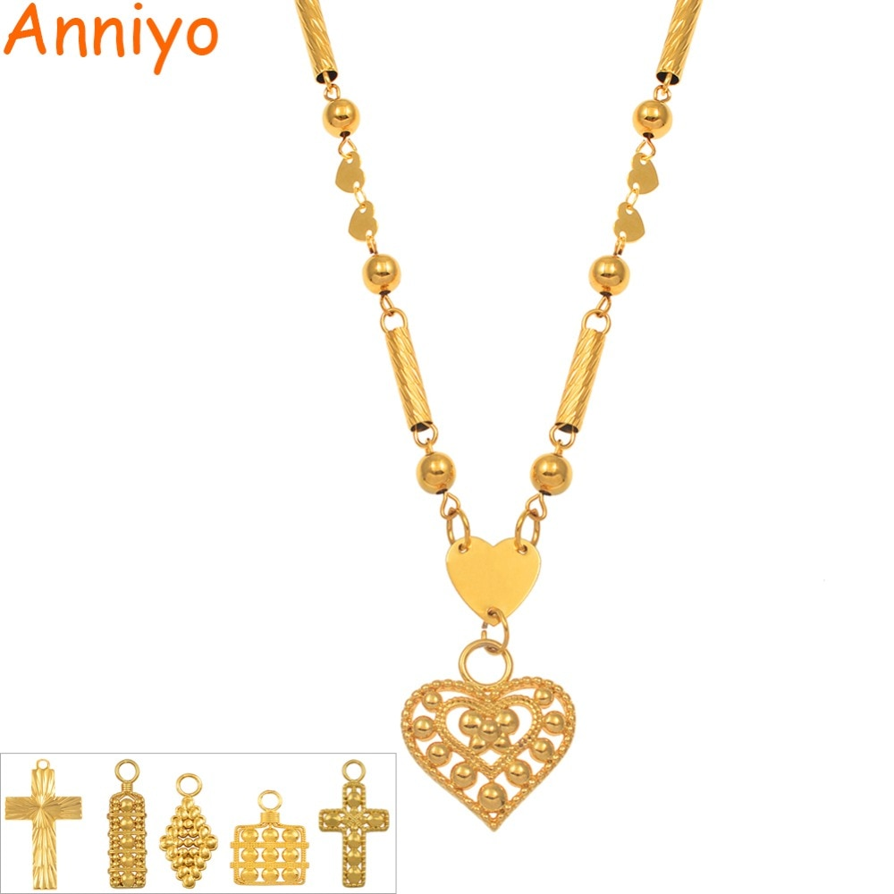 Anniyo SMALL Beads Necklaces Ball Chains Women Girls Marshall Guam Hawaii Pendant Jewellery Micronesia Islands #170306