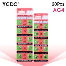 20 Pcs/2 Kaarten AG4 Voor Horloge Speelgoed Afstandsbediening Op Koop LR626 377 177 1.5V SR626 Alkaline Batterij SR626SW LR66 Maat 7.9*3.6 Mm