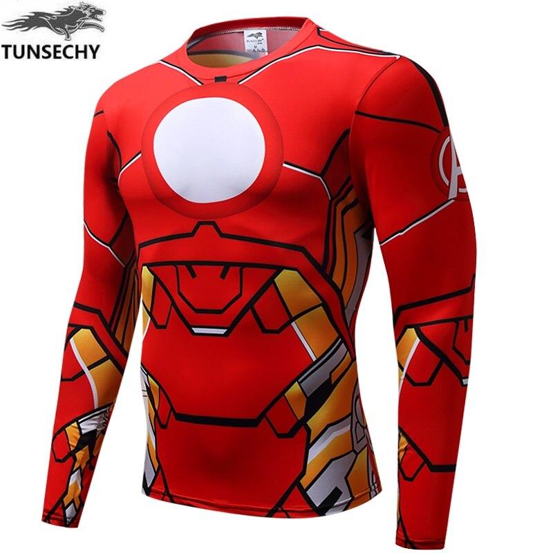 Hombre de Hierro camiseta de la guerra civil de Capitán América camiseta 3d-printed vengador-3 manga fitness traje de los hombres de Deportes de moda camiseta