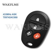 Mando a distancia con 4 botones de 433MHz para Toyota Avalon (Australia) GSV40-ATX prodigio deportivo SX6 Touring T89742AC080 89742-AC080
