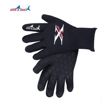 2MM Neoprene Waterproof Sport Skid-proof Wearable Flexible Gloves Keep Warm for Winter Swimming Diving Surfing Snorkeling Gloves