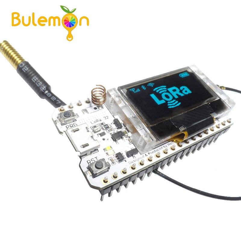 ESP32 Lora SX1278 0.96 дюймов синий OLED Дисплей Bluetooth WI-FI Lora комплект 32 модуль IOT развитию для Arduino w /Телевизионные антенны