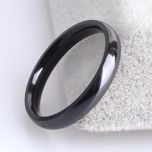3mm black smooth inner sphere 316L Stainless Steel wedding rings for women wholesale