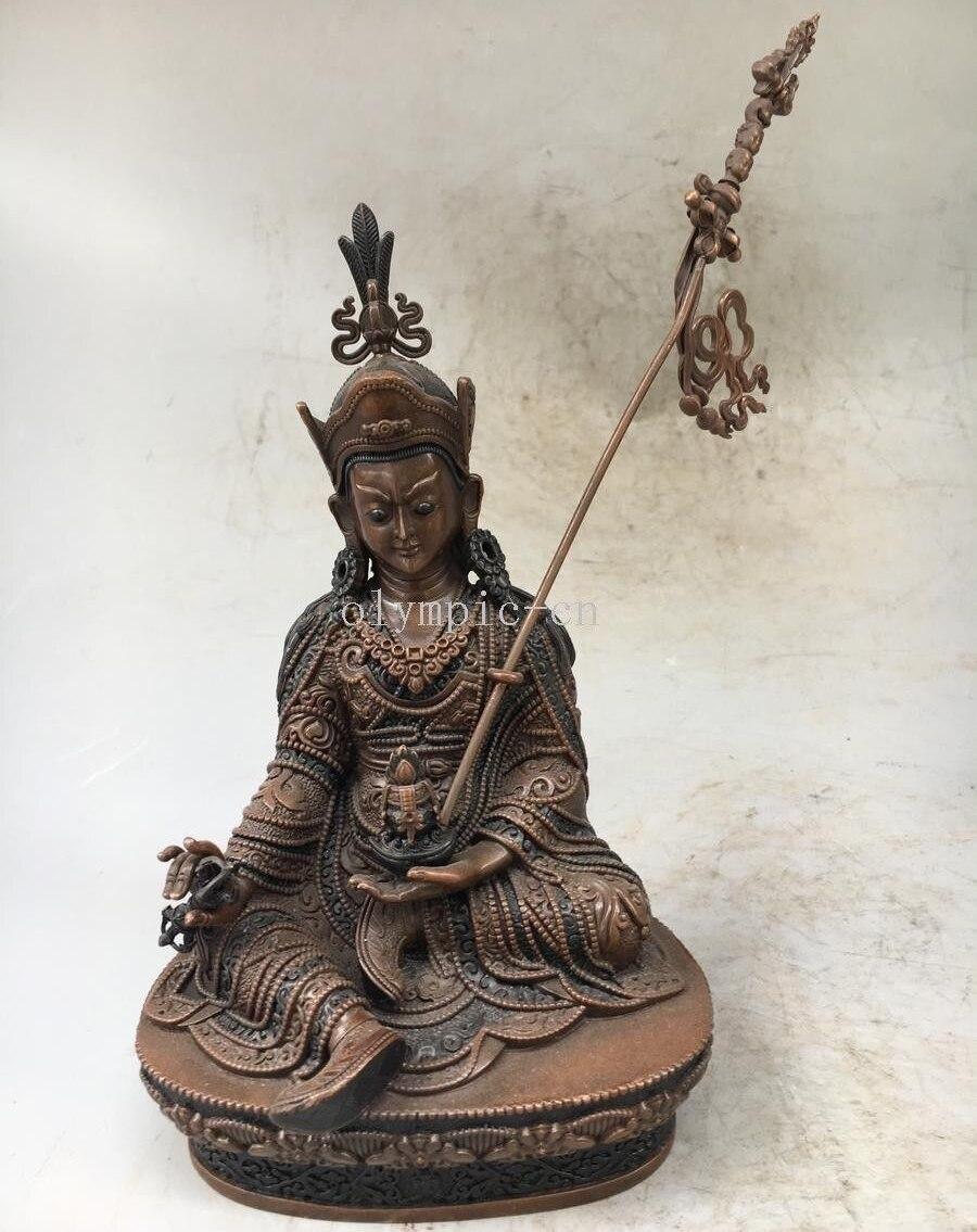 8 cobre rojo bronce tibetano budismo monje Buda GURU padmasambhava estatua