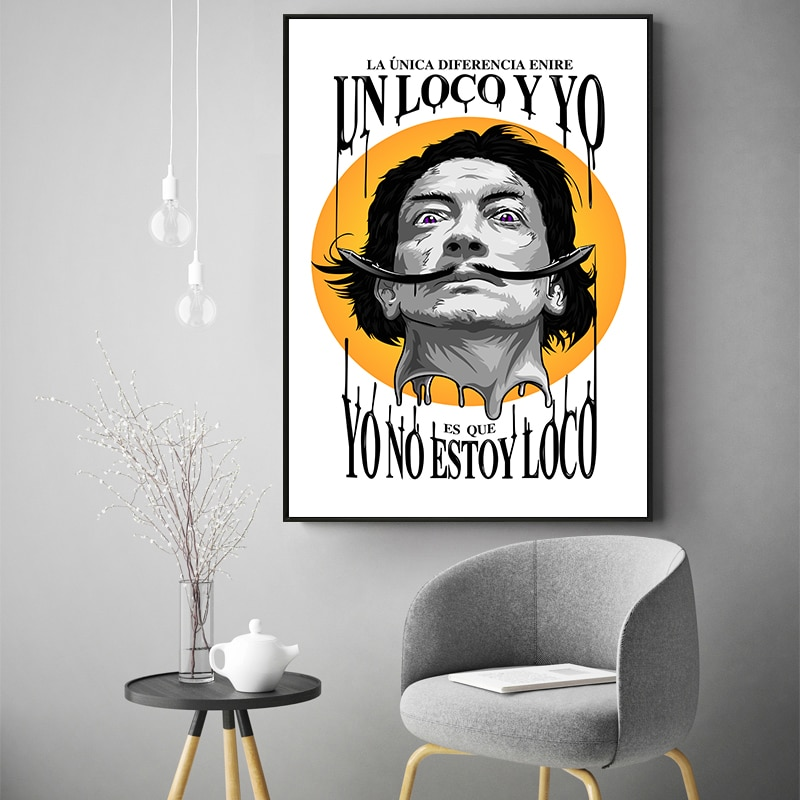 FGHGF, artista surrealista español, cuadro en lienzo de Salvador Dalí, Póster Artístico impreso, cuadro de pared, pintura para pared de hogar, decoración