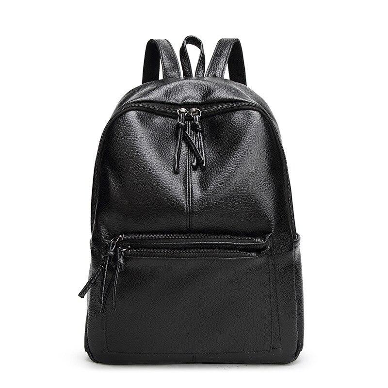 ¡Novedad de 2020! mochila negra de piel sintética para mujer, mochila escolar para chicas adolescentes, mochila informal para mujer A139