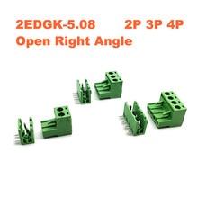 Vis à Angle droit enfichable mâle/femelle   30/50 jeux, Pitch 5.08mm 2EDGK 2EDGR connecteur enfichable mâle/femelle 2EDGR