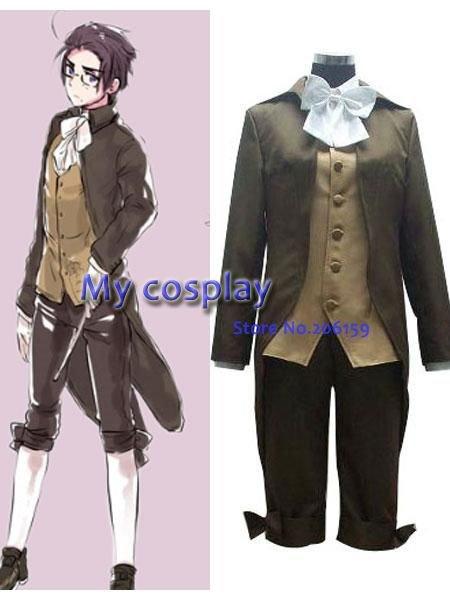 Anime Axis Powers Austria Cosplay Costume For Men's Cosplay Coat Vest Shirt Pants Full Set For Men Halloween Clothing