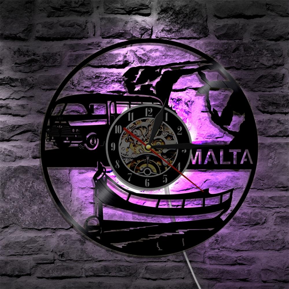 MALTA LED Vinyl Clock Lighting Color Change Wall Light Remote Controller LED Modern Backlight Cool Living Room Interior