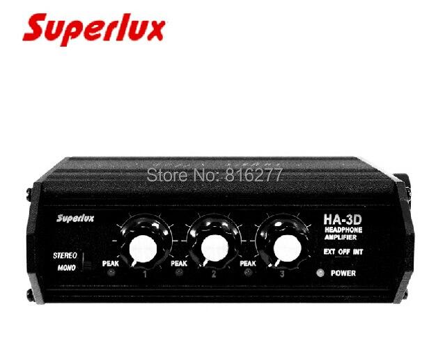 Superlux ha3d amplificador de fone de ouvido portátil, 3 canais, fone de ouvido amp pk, dispositivos de som HX-3