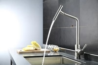 modern nickel brushed stainless steel lead free deck mounted single lever kitchen faucet torneira de cozinha