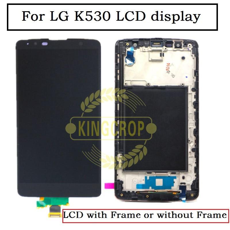 K530 k530f pantalla LCD + cristal táctil digitalizador + montaje de marco para Lg Stylus 2 Plus K530 K530Y Pantalla de repuesto