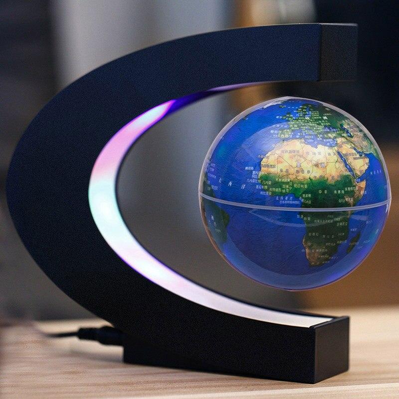 C образная Магнитная подвеска Монтессори география земля плавающая Карта мира
