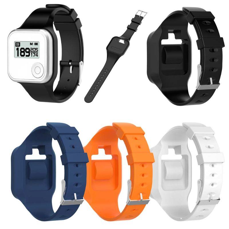 Esporte colorido pulseira de silicone macio substituição alça de pulso para golfbuddy voz gps 2 golfe gps/rangefinder relógio banda
