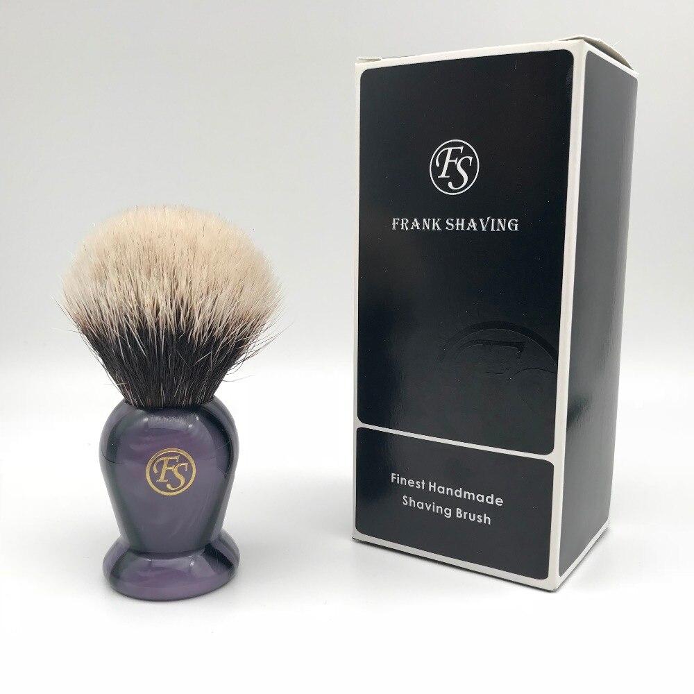 Ventas de Navidad Frank afeitado (FS)-20mm 2 banda mejor brocha de afeitar de tejón mango púrpura envío gratis