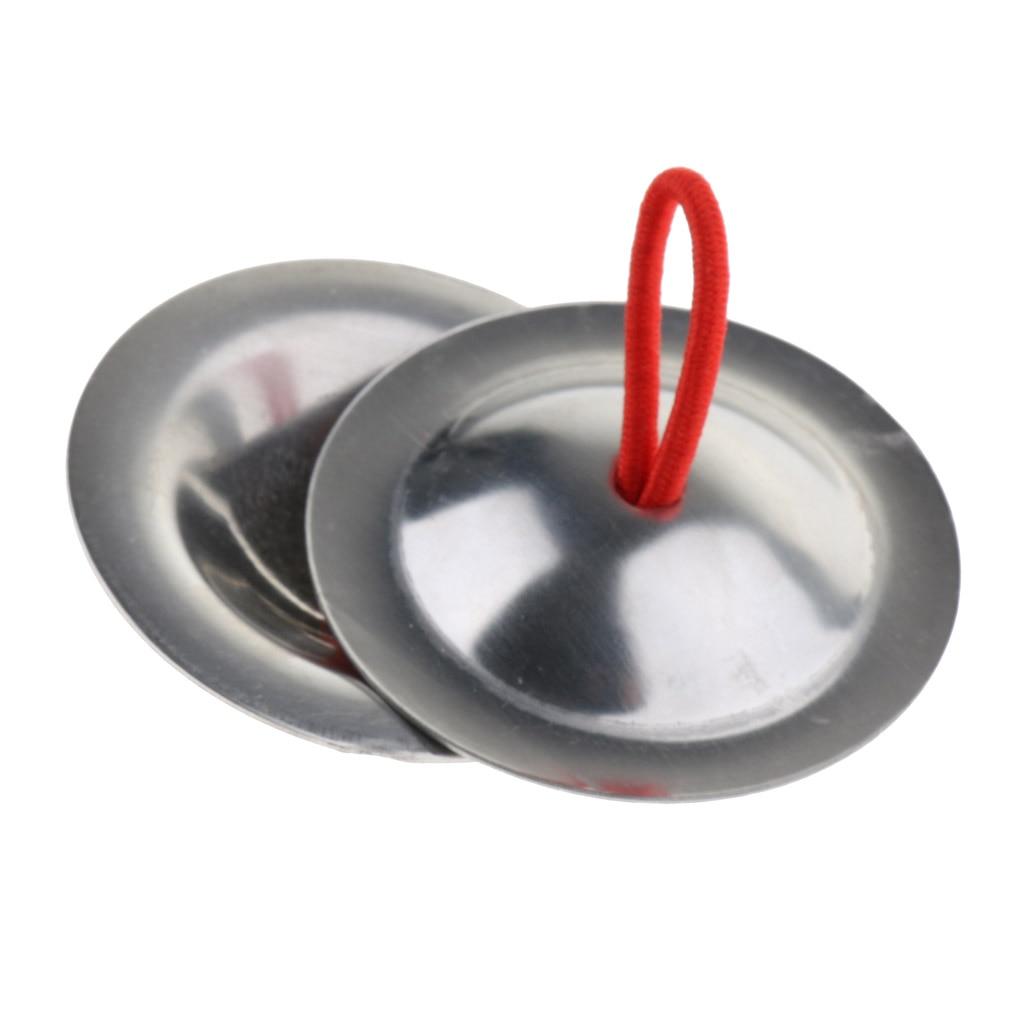 1 par de Mini platillos de mano de cobre ritmo Beats percusión instrumento musical de juguete para niños