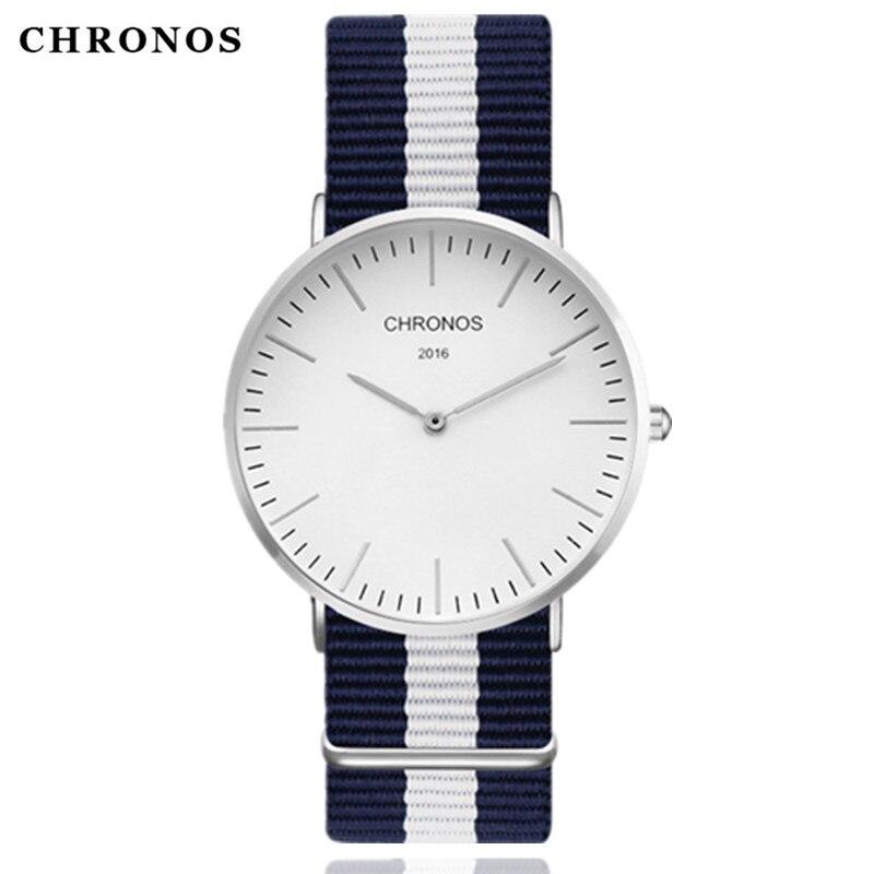 CHRONOS 2019 Montre à Quartz de luxe marque hommes décontracté femmes Montre-bracelet horloge Hodinky Ceasuri Relogio Masculino Montre Femme