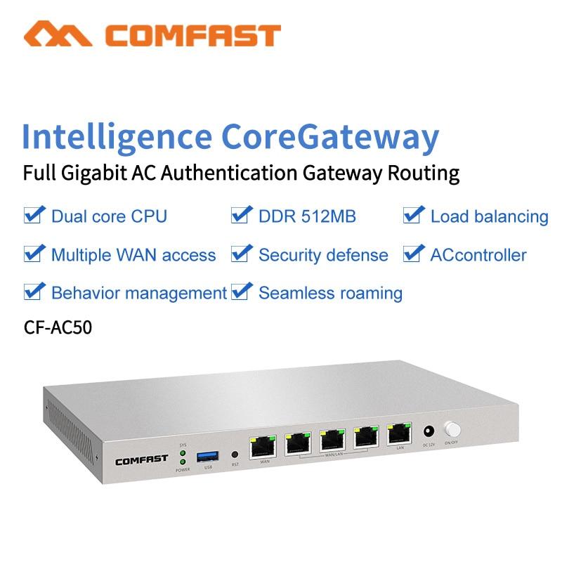 COMFAST – routeur wi-fi AC CF-AC50 Gigabit, passerelle d'entreprise, routage sans couture/Multi WAN/Balance de charge QoS PPPoE 4 Wan LAN