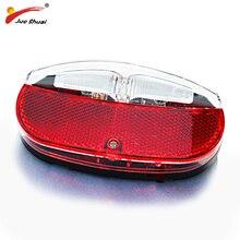 JS haute qualité vélo arrière lumière lampe à LED montage vélo support rouge accessoire avec interrupteur batterie puissance lampe de poche vélos éclairage