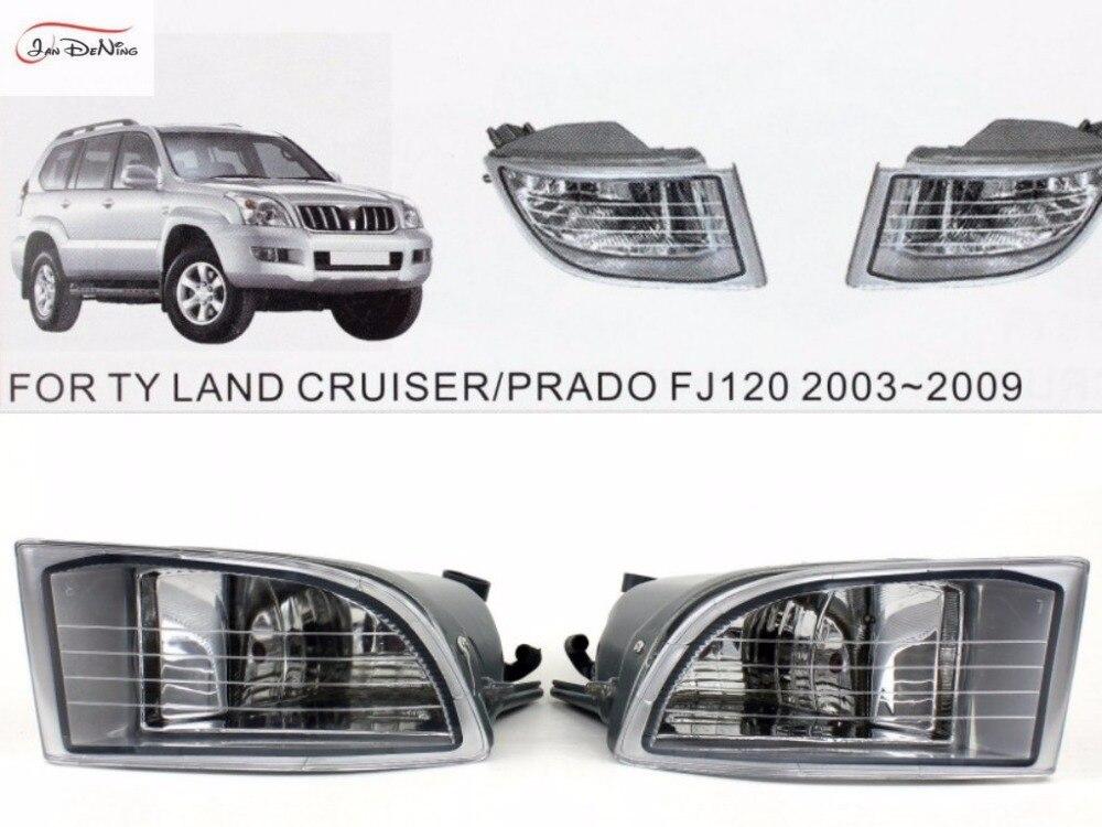 Jandzing-phares antibrouillard pour voiture   Pour TOYOTA LAND CRUISER/PRADO FJ120 2003-2009, couvercle de phare antibrouillard avant, kit de remplacement de garniture (une paire)