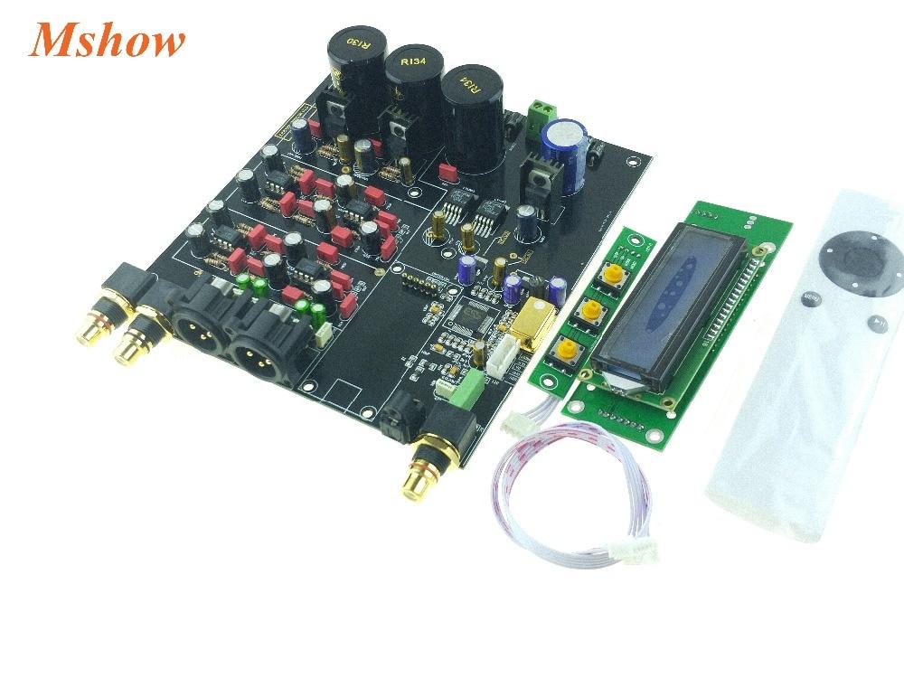 Nuevo ES9028 ES9028PRO DAC I2S 384K DSD XLR Opción de audio de alta calidad hifi Amanero o XMOS módulo USB + control remoto