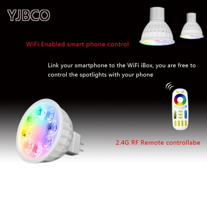 Fut104 mr16 4w lâmpada led lâmpada luz regulável rgb branco quente branco (rgb cct) holofotes, ac/dc12v, 2700k ~ 6500k, 250lm ~ 280lm, 70lm/w