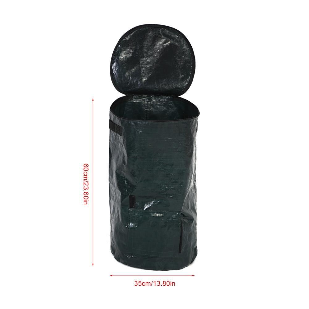 2 tamaños de bolsa de Compost de jardín PE residuos orgánicos de patio de cocina bolsa de Compost ecológico PE plantador de tela