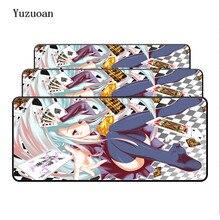 Yuzuoan لا لعبة لا حياة شحن مجاني لوحة المفاتيح مكتب الألعاب ماوس الوسادة 900X400X4mm قفل كبير حواف لينة/المطاط كما صبي فتاة هدية
