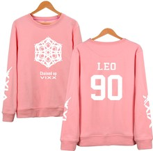 Harajuku k-pop vixx hoodies frauen pullover rosa sweatshirt fans unterstützt fleece trainingsanzug paar clothing