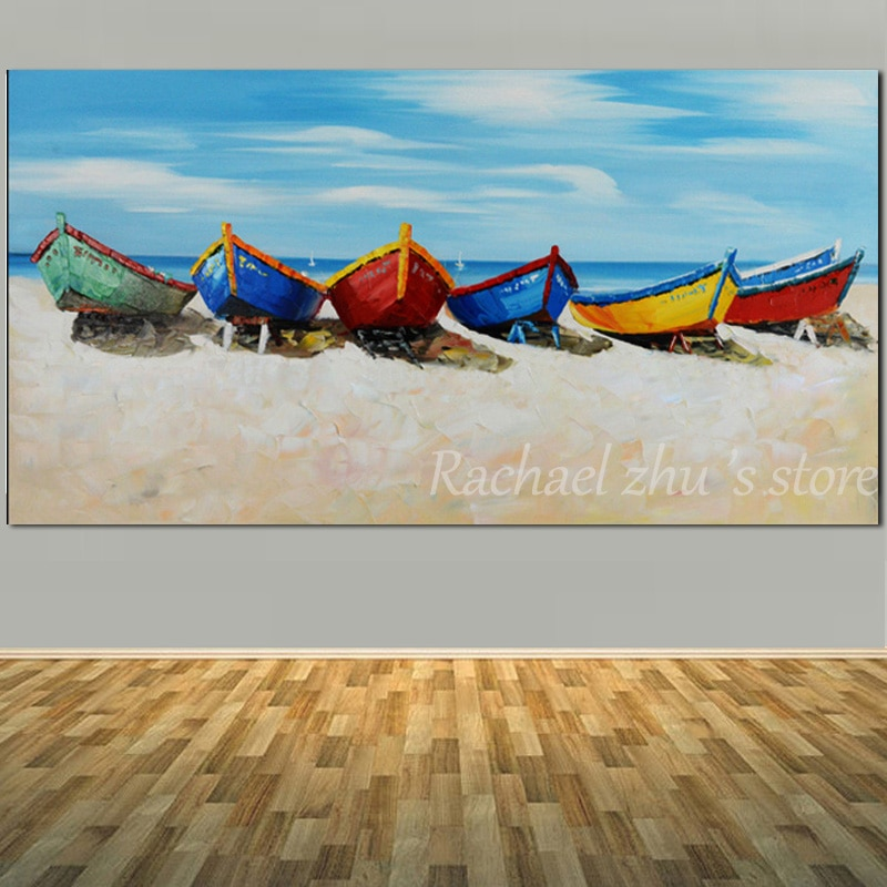 Картина на холсте, Пляжное масло, ручная работа