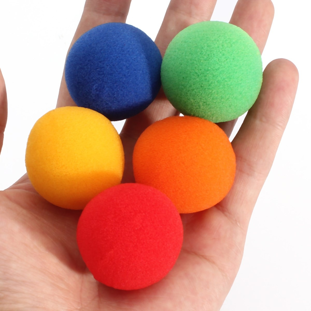 5 unids/set Close Up magia callejera clásica comedia truco bolas de esponja suave 3,5 cm tamaño mediano