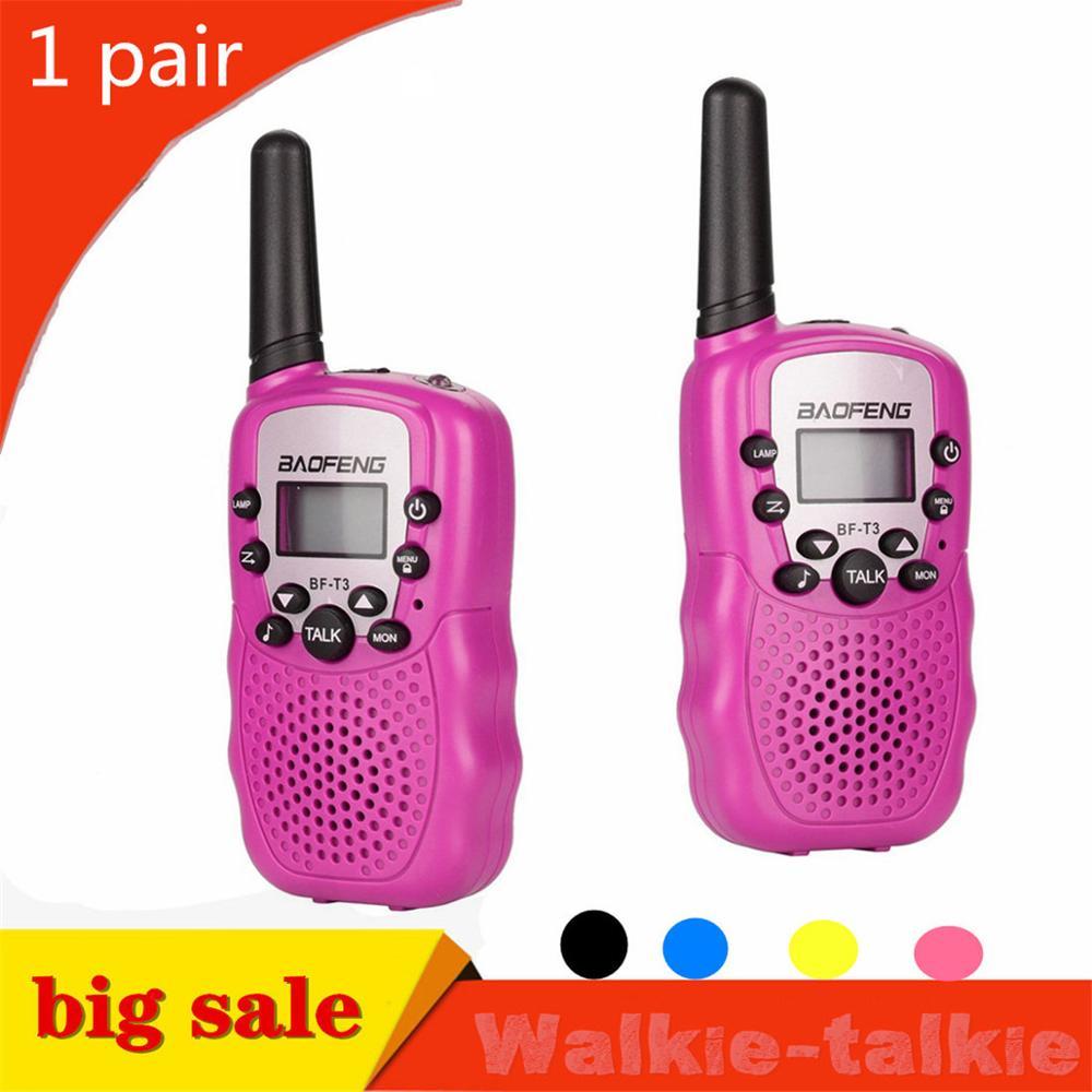 Baofeng-BF-T3 portátil de UHF462-467MHz, 2 uds. De 8 canales, dos vías, 10 tonos de llamada, transmisor-receptor de Radio para chico, Walkie Talkie