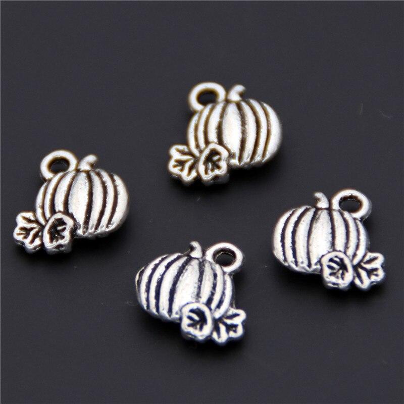 50 шт Серебряный цвет тыквы Подвески кулон для Хэллоуина Diy ожерелья и подвески ювелирные аксессуары A2405
