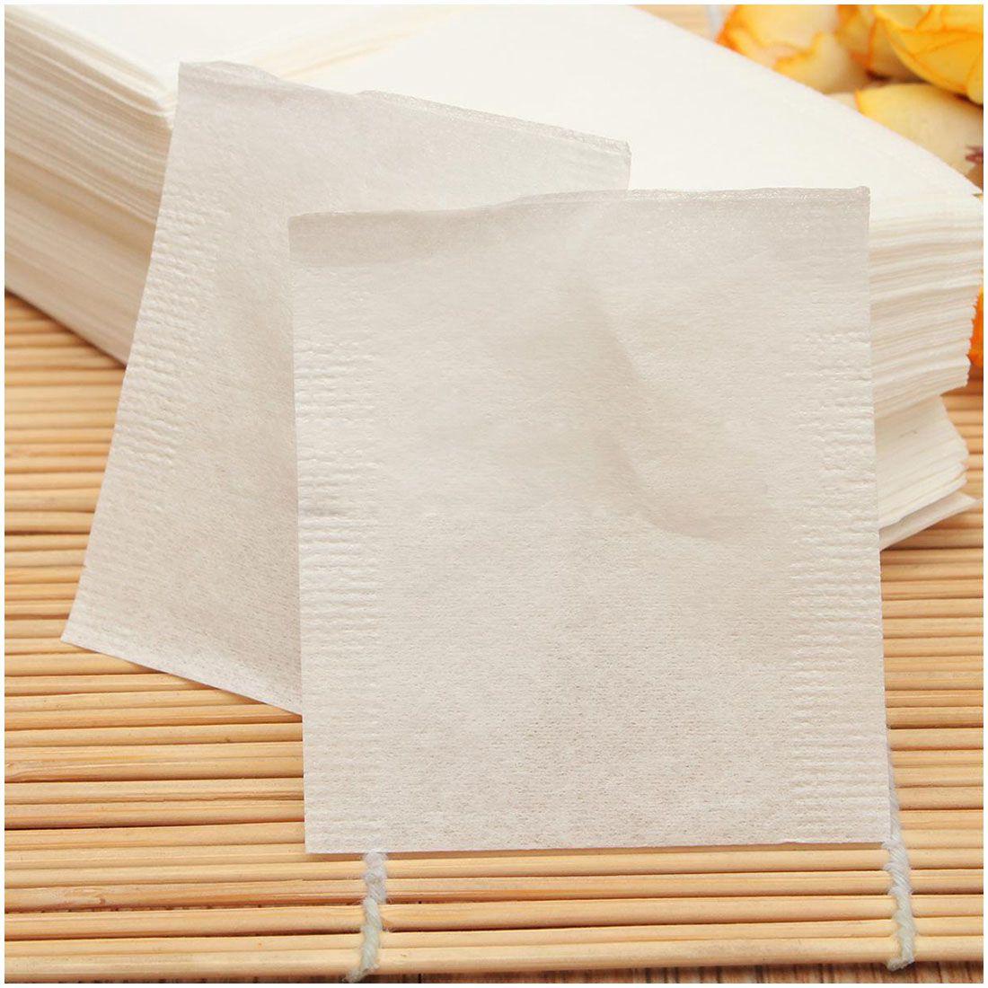 Hot 500pcs não-tecido Vazio Teabags Cordas Seal Calor Filter Paper Herb Solto Tea Bag