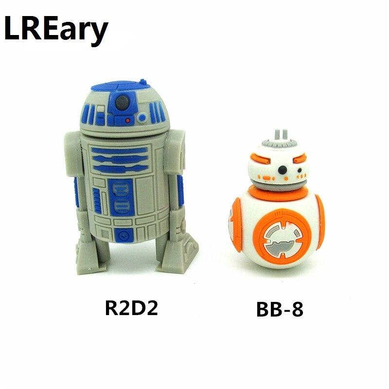 Мод Star wars BB-8 & R2D2 милый флеш-накопитель робот usb флэш-накопитель 4 ГБ/8 ГБ/16 ГБ/32 ГБ usb 2,0 флэш-диск карта памяти мультипликационный BB8