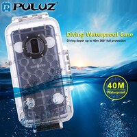 PULUZ 40 m עמיד למים צלילה שיכון לגלקסי S9 +/S9 Huawei P20 רק תמיכת אנדרואיד 8.0.0 או מתחת מתחת למים כיסוי מקרה