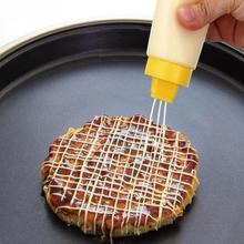 Dispensador de apretar botellas de salsa de tomate ensalada de 4 agujeros con tapa accesorios de cocina utensilios de cocina