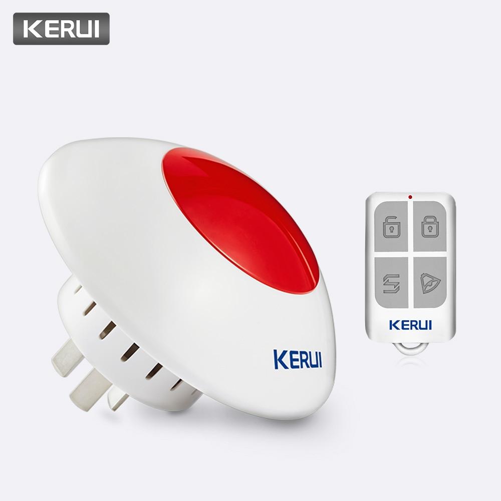 KERUI 433MHz 110dB Lautstärke einstellbar Drahtlose Alarm Sirene-Horn Red Licht Strobe Sirene Alarm Kit Anzug für Die Meisten alarm System