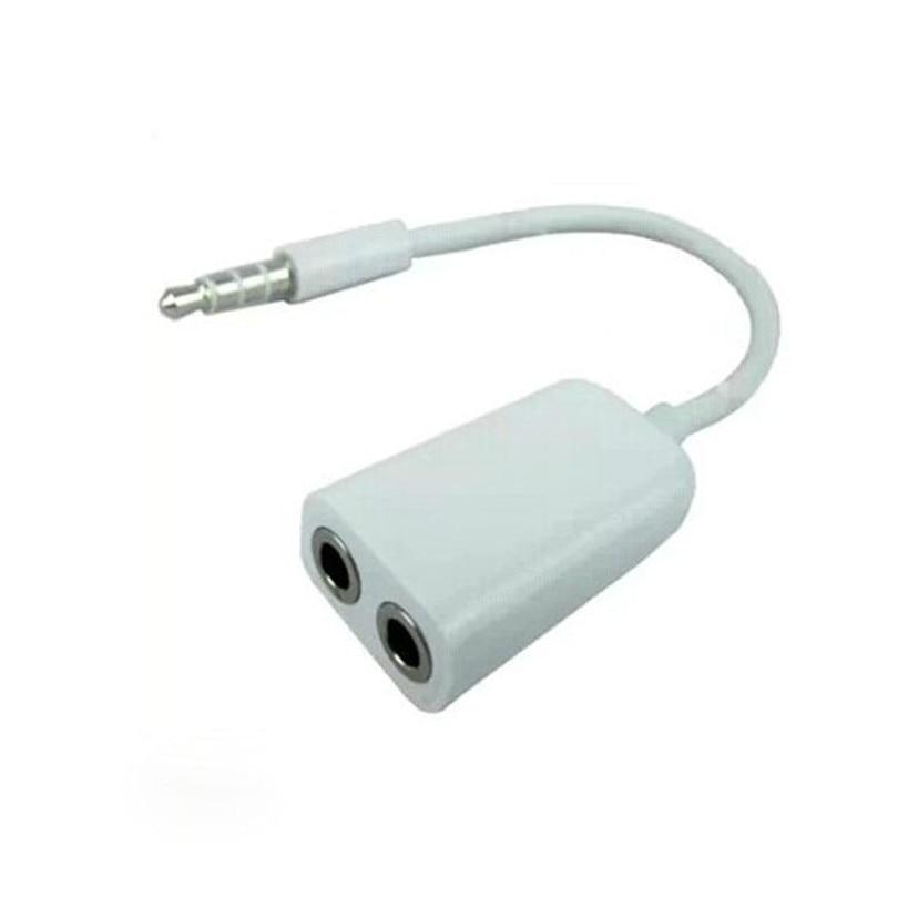 Cable AUX Jack 3,5mm Cable de Audio Jack de 3,5mm macho AUX divide hembra Dual auriculares Audio Cable adaptador 17cm venta al por mayor proveedor