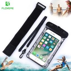 """FLOVEME 6,2 """"универсальная водонепроницаемая сумка IPX8 для подводного плавания водонепроницаемый чехол для телефона Samsung S8 S9 для iPhone X 8 7 5S"""