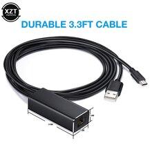 TV çubuk mini PC HD 480 Mbps USB2.0 To RJ45 ethernet adaptörü için Google Chromecast 2 1 Ultra ses TV çubuk mini PC mikro usb ağ kartı
