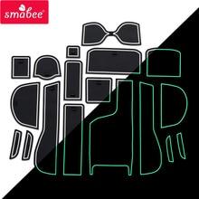 smabee car Gate Slot Pad for Honda Fit Jazz 2014 - 2018 Anti-Slip 2015 2016 2017 GK5 Non-slip Cup Holders Mats RED WHITE BLUE