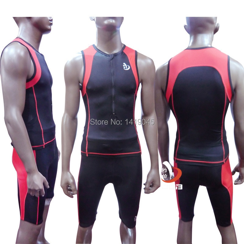 JOB Ironman Triathlon wetsuit  triatlon clothes compression tights sports wear swimming training suit men triathlon clothes