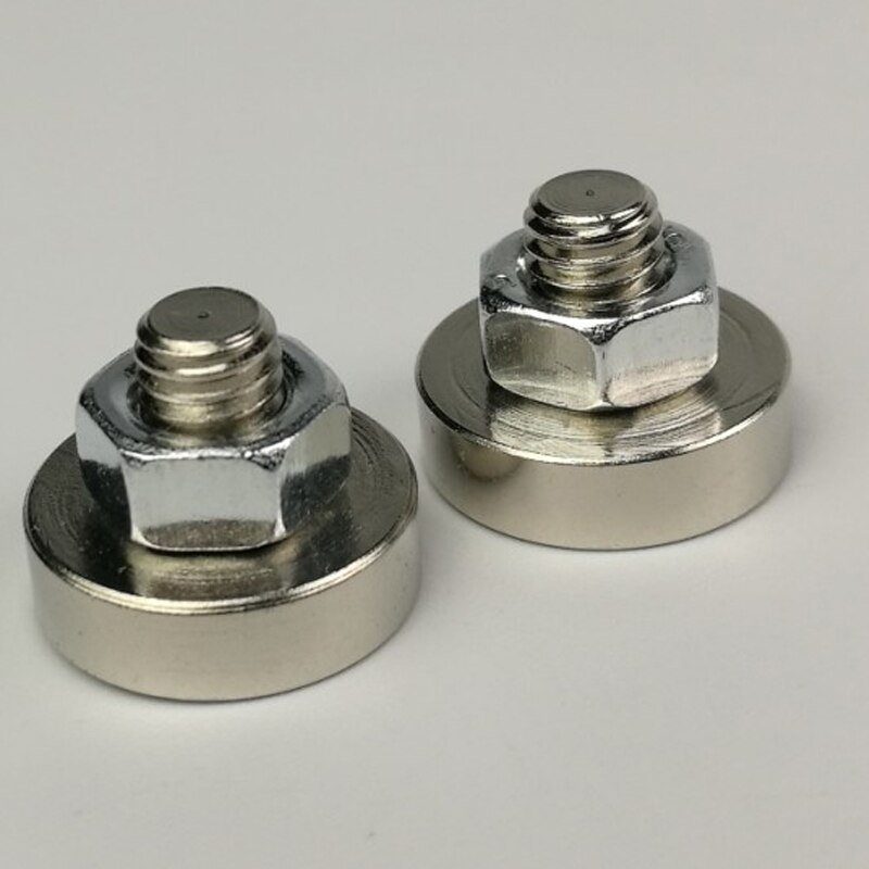 20 piezas D16mm potente imán potente de neodimio Pot con rosca M6 * 8mm Material de Led magnético Base Led Monitor fijación imanes de puerta