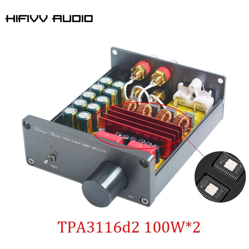 100 W * 2 الفئة D الصوت الرقمية مكبر كهربائي tpa3116d2 TPA3116 مكبر صوت صغير الحجم مع المضخم NE5532P * 1/TPA3116*2