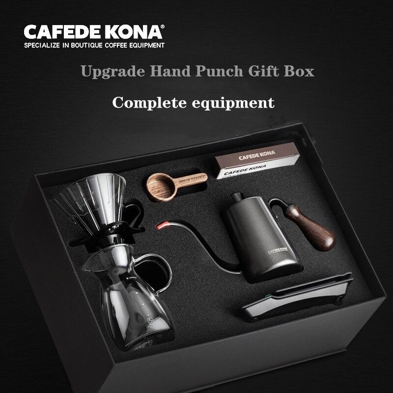 CAFEDEKONA набор ручных кофейных горшков капельный фильтр домашняя Подарочная коробка для кофе ручная Штамповка устройство 6 шт набор